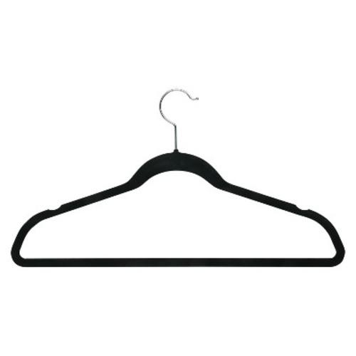 Honey-Can-Do HNG-01884 Thin Non-Slip Velvet Hangers, Black, 50-Pack