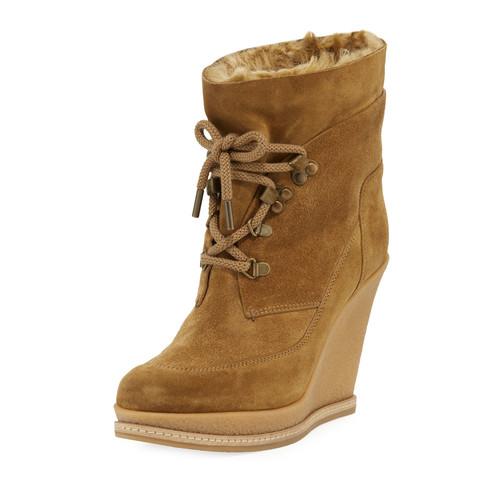 VERONICA BEARD Mack Faux-Fur Lined Wedge Boot