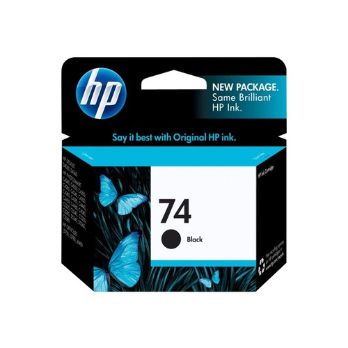 HP 74 Black Ink Cartridge - Inkjet - Standard Yield - 200 Page - 1 Each