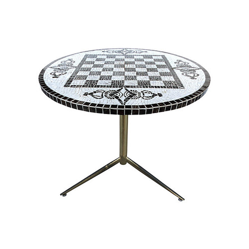 Checkerboard Tile-Top Table
