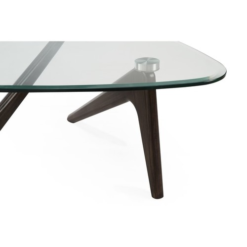 Magnussen Home Furnishings Coffee, Console, Sofa & End Tables Garvin Modern Distressed Nutmeg Coffee Table with Glass Top
