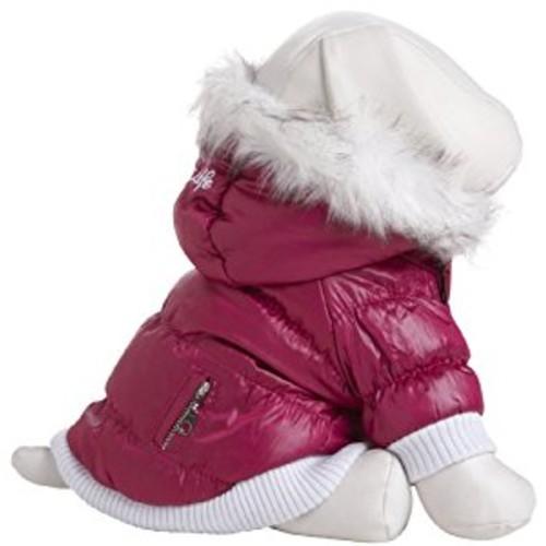 Metallic Fashion Pet Parka Coat [Pink, Medium]