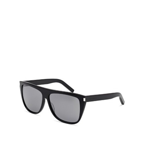 SAINT LAURENT Mirrored Flat Top Sunglasses