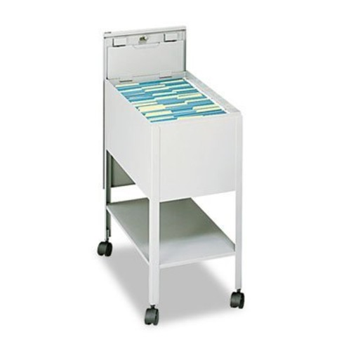 Safco Products 5361PT Standard Mobile Tub File with Lock, Letter Size, Putty [Putty]