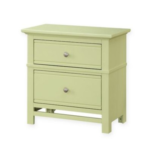 Panama Jack Colors 2-Drawer Nightstand in White