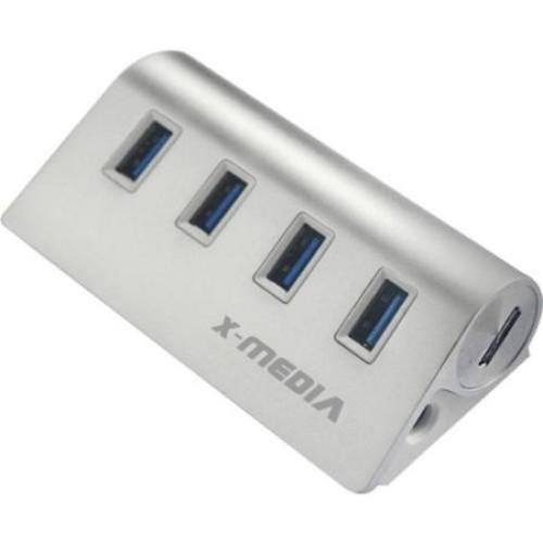 X-MEDIA XM-UB3004A 4-Ports SuperSpeed USB3.0 Hub with AC Adapter - USB - External - 4 USB Port(s) - 4 USB 3.0 Port(s) -