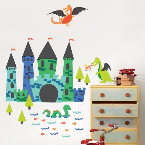 WallPops Lucky Dragons Wall Art Kit