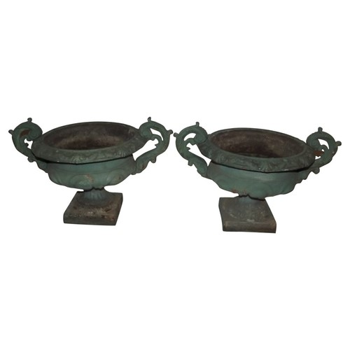 French Cast Iron Urns, S/2