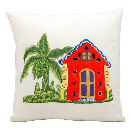 Mina Victory Beach House Outdoor Throw Pillow
