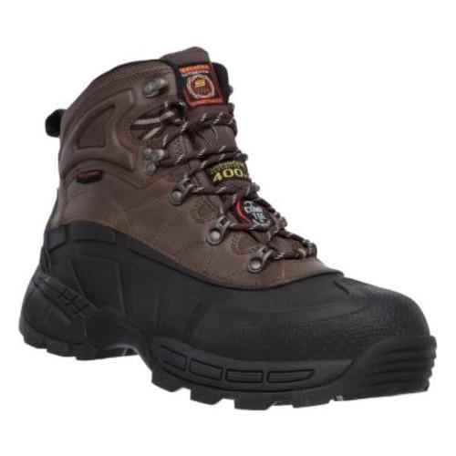 Skechers Radford Men Size 10 Black Leather Work Boot