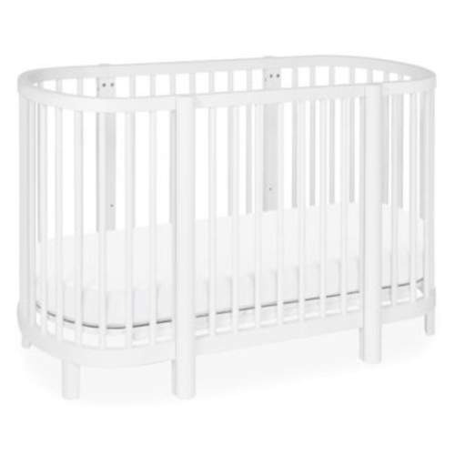 Babyletto Hula Convertible Oval Crib/Mini Bassinet in White