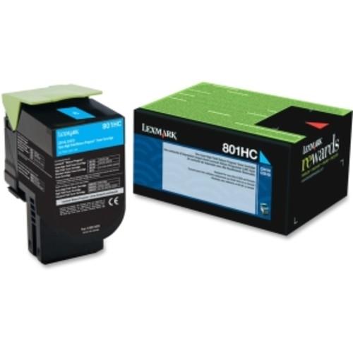 Lexmark Unison 801HC Toner Cartridge - Cyan
