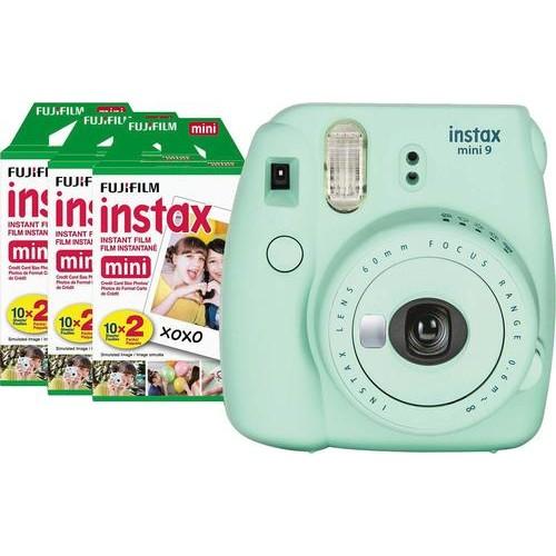 Fujifilm - instax mini 9 Instant Film Camera Value Pack - Mint Green