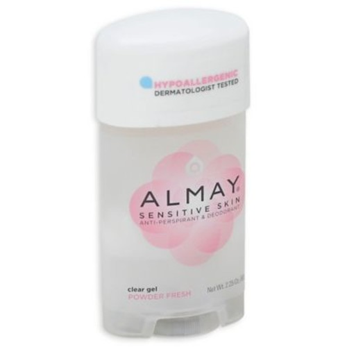 Almay Sensitive Skin 2.25 oz. Clear Gel Anti-Perspirant & Deodorant in Powder Fresh Scent
