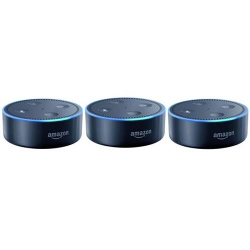 Amazon 3x Echo Dot Wireless Voice-Controlled Device, 2nd Generation, Black