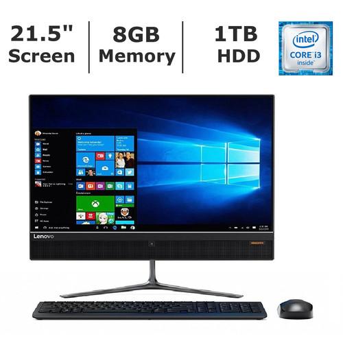 Lenovo IdeaCentre 510 All-In-One, Intel Core i3-6100T Processor, 8GB Memory, 1TB Hard Drive