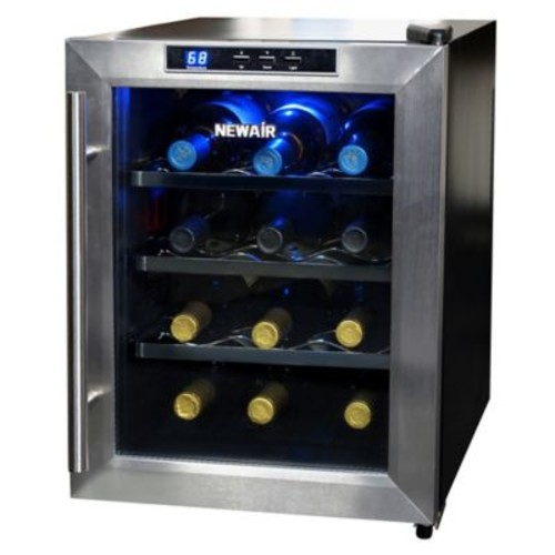 Air Stainless Steel 12-Bottle Single-Zone Wine Cooler
