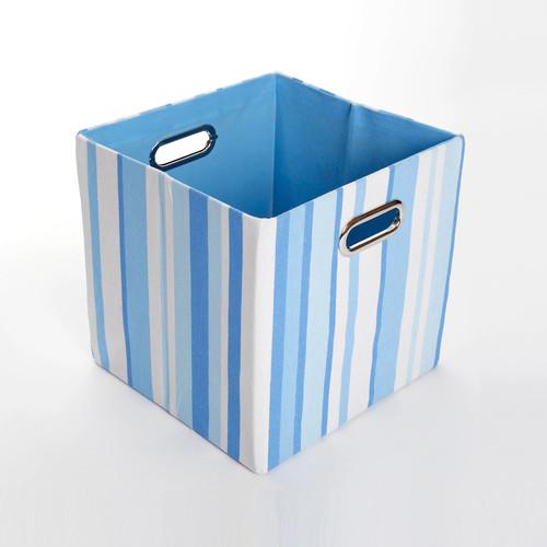 Modern Littles Sky Stripes Folding Storage Bin