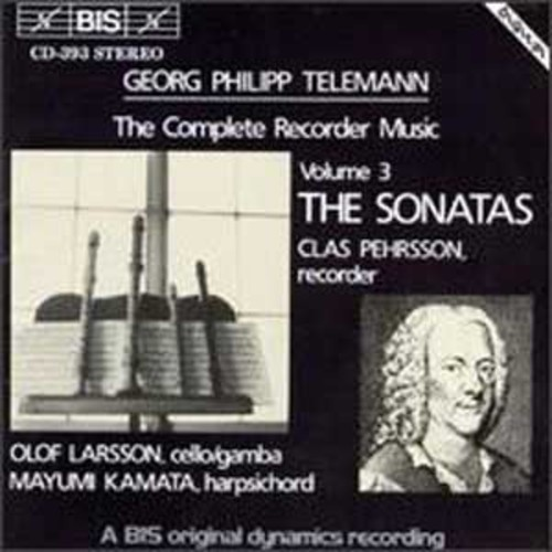 Telemann: The Complete Recorder Music, Vol. 3 - The Sonatas (Audio CD)