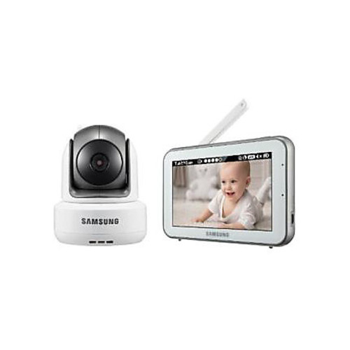 Hanwha Techwin SEW-3043W BrightVIEW Baby Video Monitoring System IR Night Vision PTZ 5.0 inch