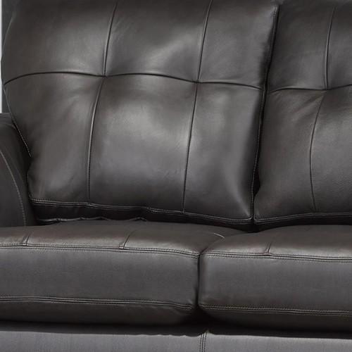 Carrera Premium Brown Top Grain Leather Sofa and Chair
