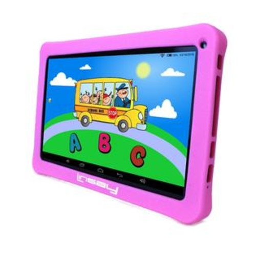 LINSAY 10.1 inch New Quad Core Kids Funny Tablet with Pink Kids Defender Case