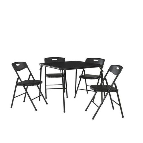 Cosco 5-Piece Black Folding and Chair Set