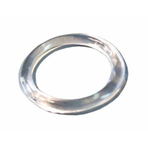 Plastic Small Scarf Ring, Clear, 100/Pack, 1 1/4