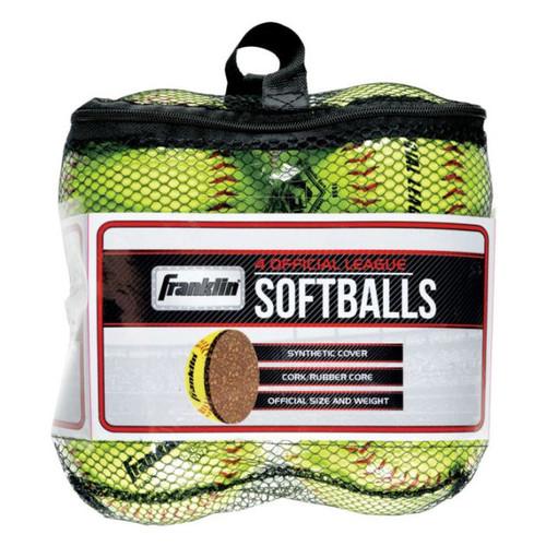 Franklin Sportsicial League Yellow Softballs