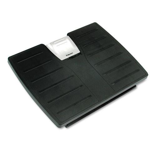 Fellowes Office Suites Adjustable Footrest, Black, Silver