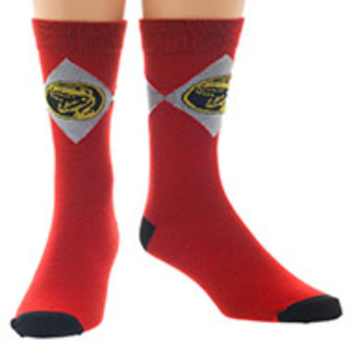 Power Rangers Red Crew Socks
