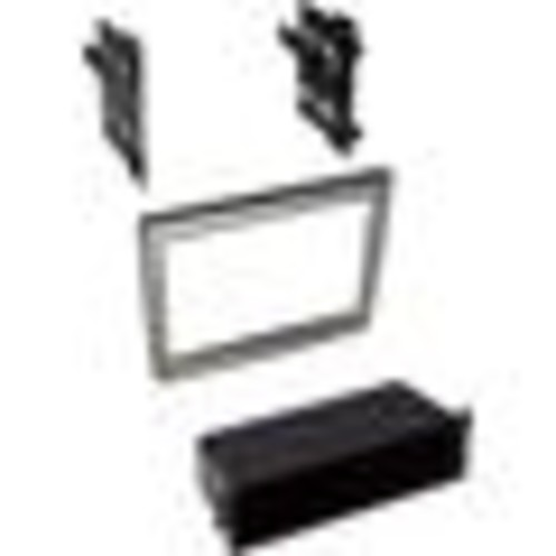 American International POR911 Dash Kit (Painted Silver) Fits select 2005-12 Porsche vehicles  single- or double-DIN radios