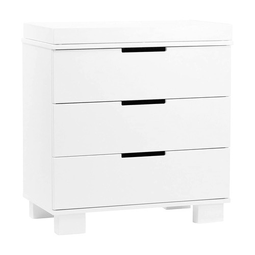 Babyletto Modo 3-Drawer Changer Dresser with Removable Changing Tray, White [White]