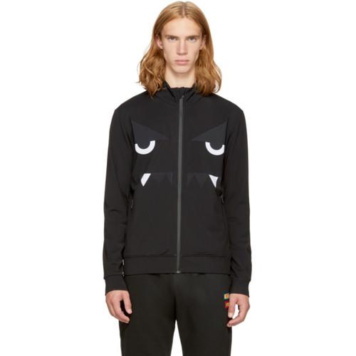 FENDI Black 'Bag Bugs' Track Jacket