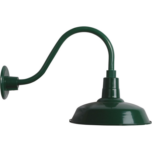 Strongway Multi-Mount Barn Light  12in. Dia., Forest Green, 100 Watts, Model# 23201096-GS