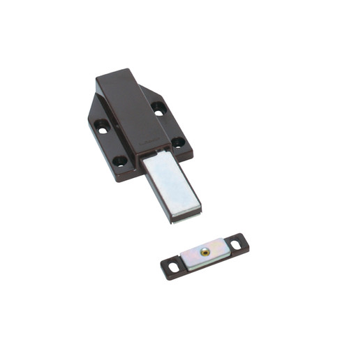 Sugatsune Brown Plastic Touch Latch Magnetic Long Stroke for Medium-sized Doors, Brown - Sugatsune Touch Latch Magnetic, Brown