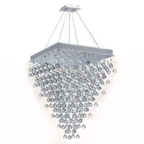 Worldwide Lighting Icicle 10-Light Chrome with Clear Crystal Chandelier