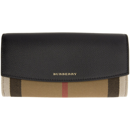 BURBERRY Black Porter House Check Derby Wallet