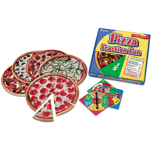 Learning Resources Pizza Fraction Fun Game, 13 Fraction Pizzas [1]