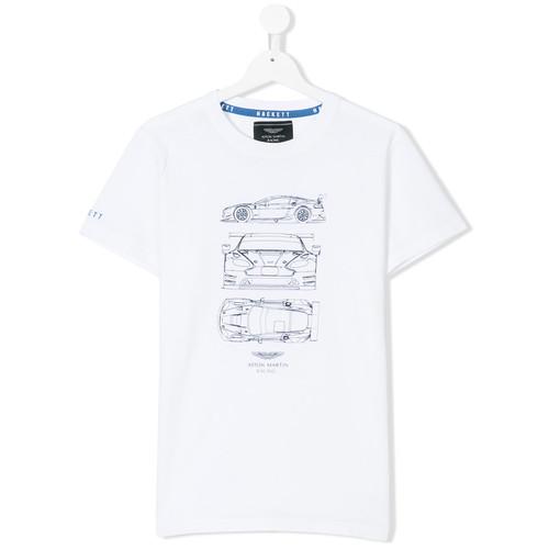 car sketch print T-shirt