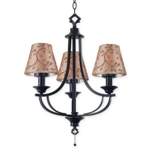 Kenroy Home Belmont 3-Light Pendant in Oil-Rubbed Bronze
