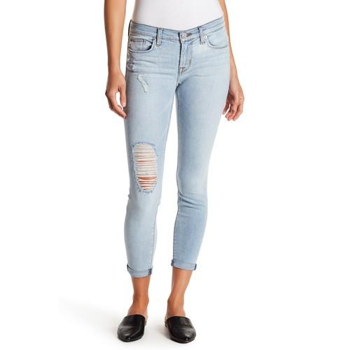 Harkin Distressed Cropped Jeans