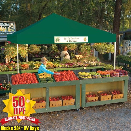 ShelterLogic Pop-Up 12' x 12' Open Top Pro Canopy with Green Cover