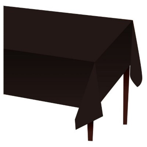 Halloween Black Disposable Tablecloth - Hyde and Eek! Boutique