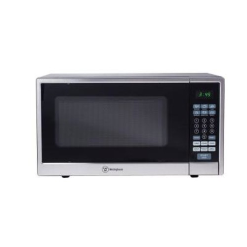 Westinghouse 1.1 cu. ft. 1000-Watt Countertop Microwave in Stainless Steel Front Black Body