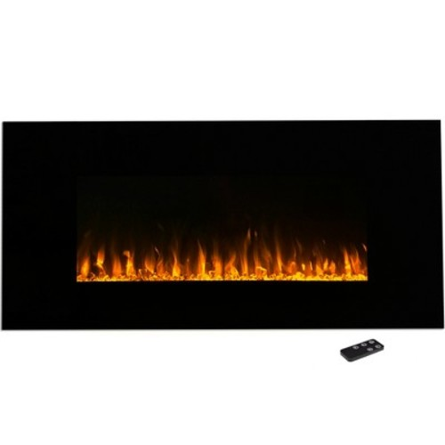 Electric Fireplace Wall Mounted, LED Fire and Ice Flame, With Remote 42 inch by Northwest [Black, 42 - Inch]