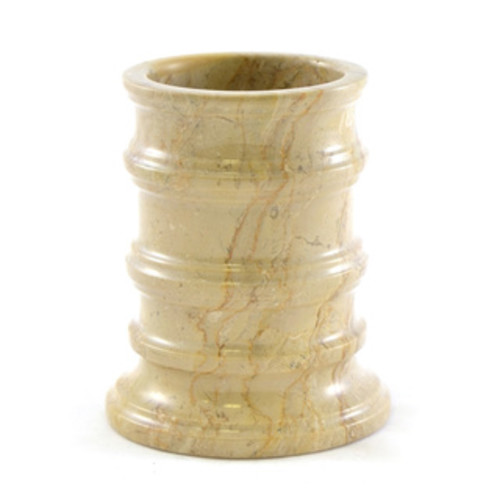 Nature Home Decor Multi Brown Onyx Waste Basket of Pacific Collection