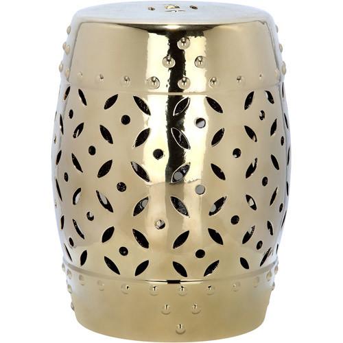 Safavieh Paradise Harmony Gold Ceramic Garden Stool (ACS4510D)