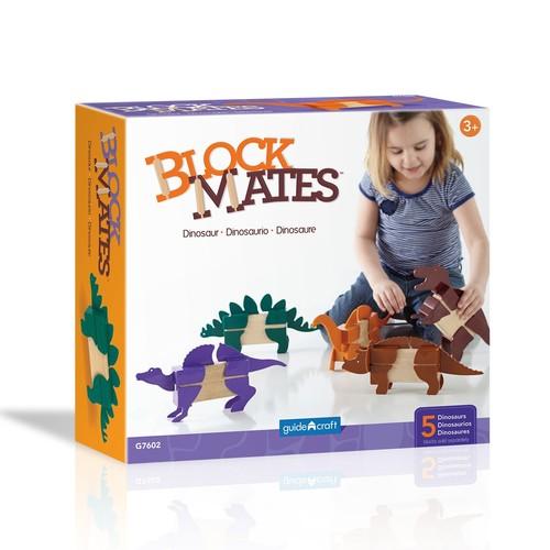 Guidecraft Block Matestm - Dinosaur Building Kit (Piece 20)
