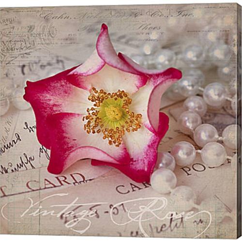 Metaverse Art Rose Romance III Gallery Wrapped Canvas Wall Art